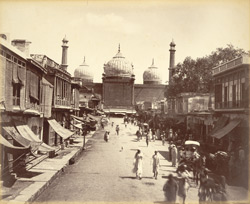 Street behind the Jama Musjid, [Delhi].